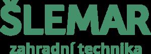 Radek Šlemar autorzovaný dealer Husqvarna. Zelené logo Šlemar na bílém podkladu